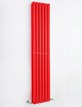 Revive 354 x 1800mm Double Panel Red Designer Radiator