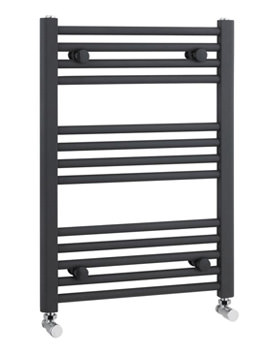 Lauren Straight Ladder Rail 500 x 700mm Anthracite - MTY103