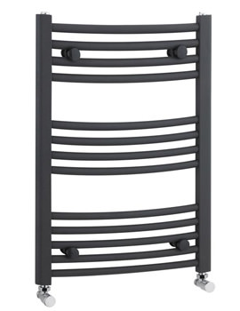 Curved Ladder Rail for Towels 500 x 700mm Anthracite