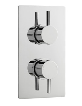 Pioneer Twin Thermostatic Shower Valve - Round Lever - ABS Trimset