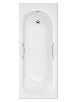 Marshall Single Ended Acrylic Bath With Grips 1700 x 750mm