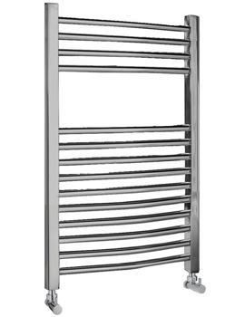 Ultra Curved Heated Towel Rail 500 x 700mm Chrome - HK385