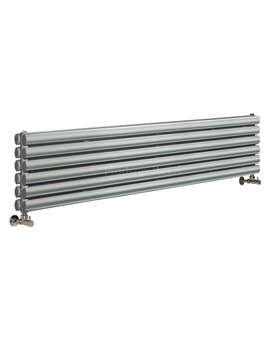 Revive 1500x354mm Silver Double Panel Horizontal Radiator