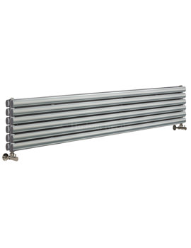Hudson Reed Revive 1800 x 354mm Silver Double Panel Horizontal Radiator