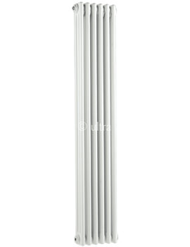 Ultra Colosseum Triple Column 291 x 1500mm White Radiator - HX308