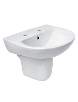 Related Lauren Pandora 550mm 2 Tap Hole Basin And Semi Pedestal - NCC122 - NCC107