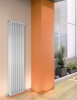 Monza White Vertical 3 Column Radiator 300 x 1270mm