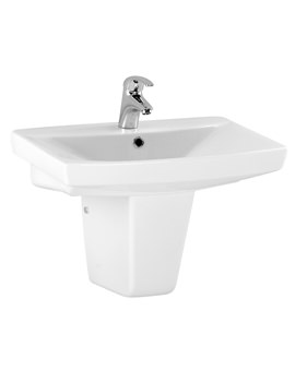 Related Lauren Hamilton 600mm Basin And Semi Pedestal White