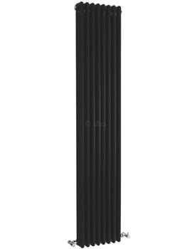 Ultra Colosseum Triple Column 381 x 1800mm Black Radiator - HXB12