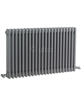 Ultra Colosseum Triple Column Silver Radiator 1011 x 600mm
