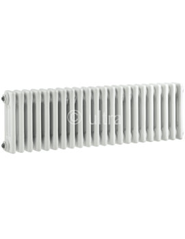 Colosseum Triple Column 1011 x 300mm White Radiator - HX303