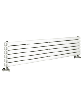 Hudson Reed Revive 1500x354mm White Double Panel Horizontal Radiator