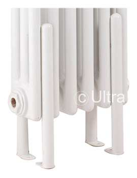 Colosseum White Radiator Floor Mounting Legs - HX300