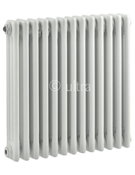 Ultra Colosseum Triple Column 606 x 600mm White Radiator - HX304