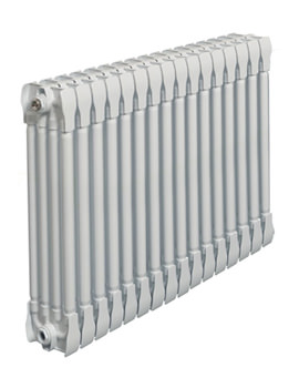 Apollo Monza White Horizontal 4 Column Radiator 1400 x 420mm