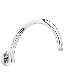 Ultra Wall Mounted Curved Shower Arm 315mm - ARM06