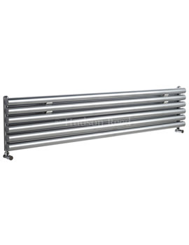 Savy Single Panel Horizontal Silver Radiator 1800x354mm