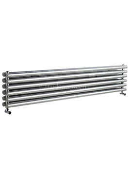 Savy Double Panel Horizontal Silver Radiator 1800x354mm