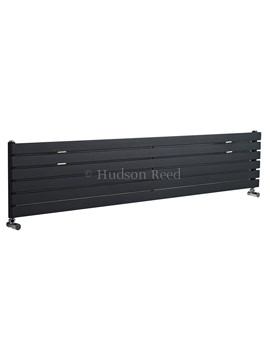 Sloane Single Panel Horizontal Anthracite Radiator 1800x354mm
