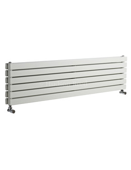 Sloane Double Panel Horizontal White Radiator 1800x354mm