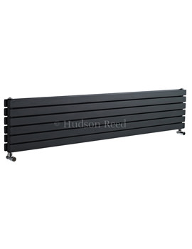 Hudson Reed Sloane Double Panel Horizontal Anthracite Radiator 1800x354mm