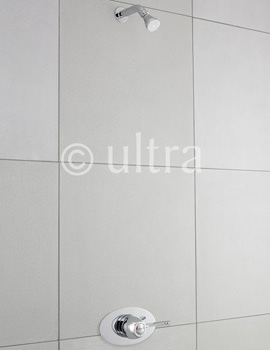 Ultra Concealed Fixed Shower Head With Arm Chrome - CK400