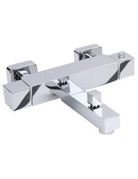 Kubo Chrome Wall Mounted Bath Shower Mixer Tap - KUB500