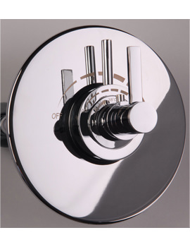 Related Mayfair Wave Thermostatic Shower Valve With Round Plate - RDL225