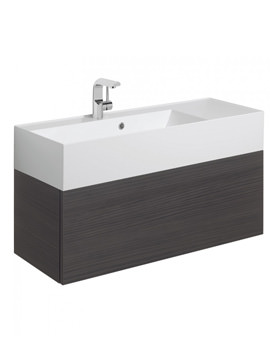 Elite 1000mm Single Drawer Anthracite Wall Hung Basin Unit