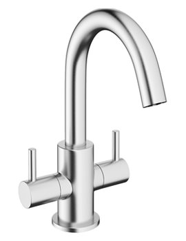 Related Crosswater Mike Pro Brushed Chrome Twin Lever Monobloc Basin Mixer Tap