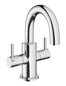 Mike Pro Chrome Twin Lever Monobloc Mini Basin Mixer Tap
