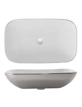 Bauhaus Gallery Serene Platinum 580mm Countertop Basin Without Overflow