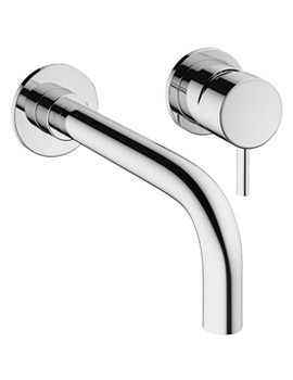 Mike Pro 2 Hole Wall Mounted Chrome Basin Mixer Tap