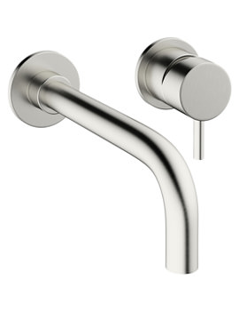 Crosswater Mike Pro 2 TH Wall Mount Brushed Stainless Steel Basin Mixer Tap
