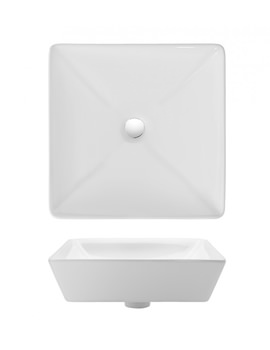 Bauhaus Gallery Forme 400mm Countertop Basin Without Overflow