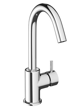 Mike Pro Chrome Single Lever Monobloc Basin Mixer Tap
