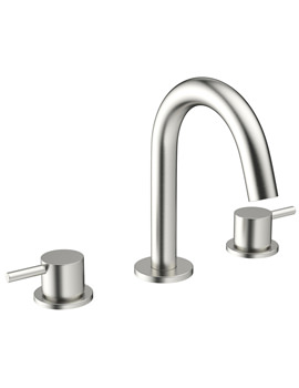 Related Crosswater Mike Pro 3 TH Deck Mount Brushed Stainless Steel Basin Mixer Tap