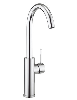 Related Crosswater Cucina Kai Lever Chrome Tall Kitchen Sink Mixer Tap