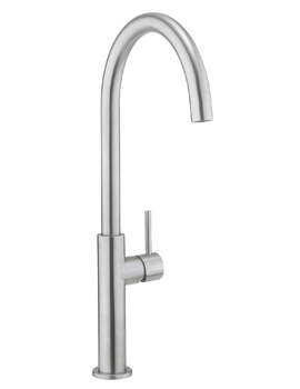 Related Crosswater Cucina Kai Lever Stainless Steel Tall Kitchen Sink Mixer Tap