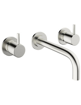 Related Crosswater Mike Pro 3 TH Wall Mount Brushed Stainless Steel Basin Mixer Tap