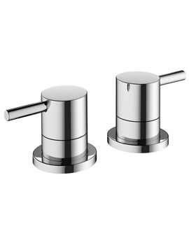 Mike Pro Deck Mounted Chrome Bath Panel Valves
