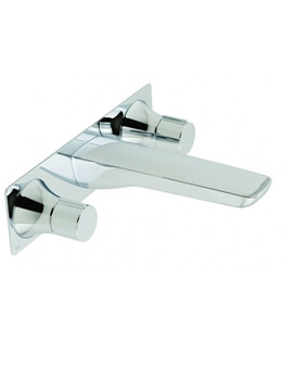 Altitude Wall Mounted 3 Hole Basin Mixer Tap Chrome