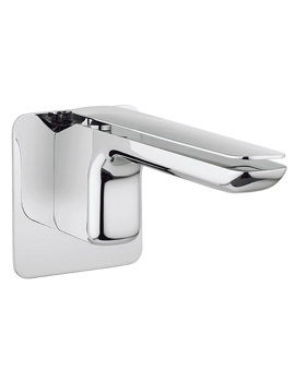 Kelly Hoppen Zero 2 Wall Mounted 2 Hole Basin Mixer Tap Set