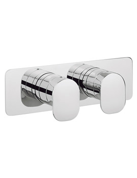 Related Crosswater KH Zero 2 Landscape Thermostatic Valve With 2 Way Diverter