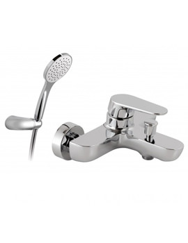 Ascent Exposed Wall Mounted Bath Shower Mixer Tap With Kit