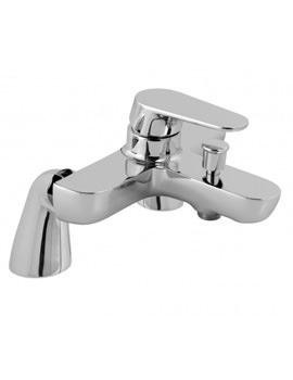 Ascent 2 Hole Deck Mounted Bath Shower Mixer Tap Chrome