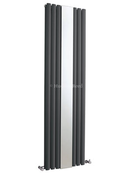 Revive 499 x 1800mm Anthracite Double Panel Radiator With Mirror