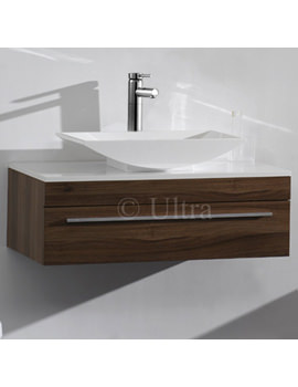 Related Ultra Equity Walnut Wall Mounted Drawer Cabinet And Basin 900mm