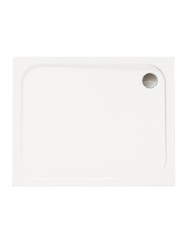 Mstone 1000 x 800mm Rectangular Shower Tray With Waste - D108RT