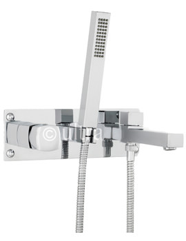 Related Ultra Muse Chrome Wall Mounted Bath Shower Mixer Tap - MUS350